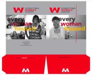 Designed pocket folder for Downtown Women