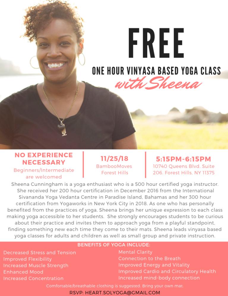 Flyer for Yoga Instructor