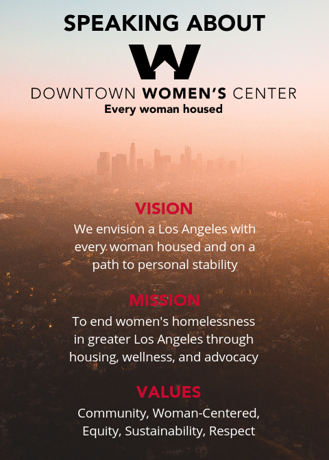 Created postcard for volunteers on how to speak about Downtown Women