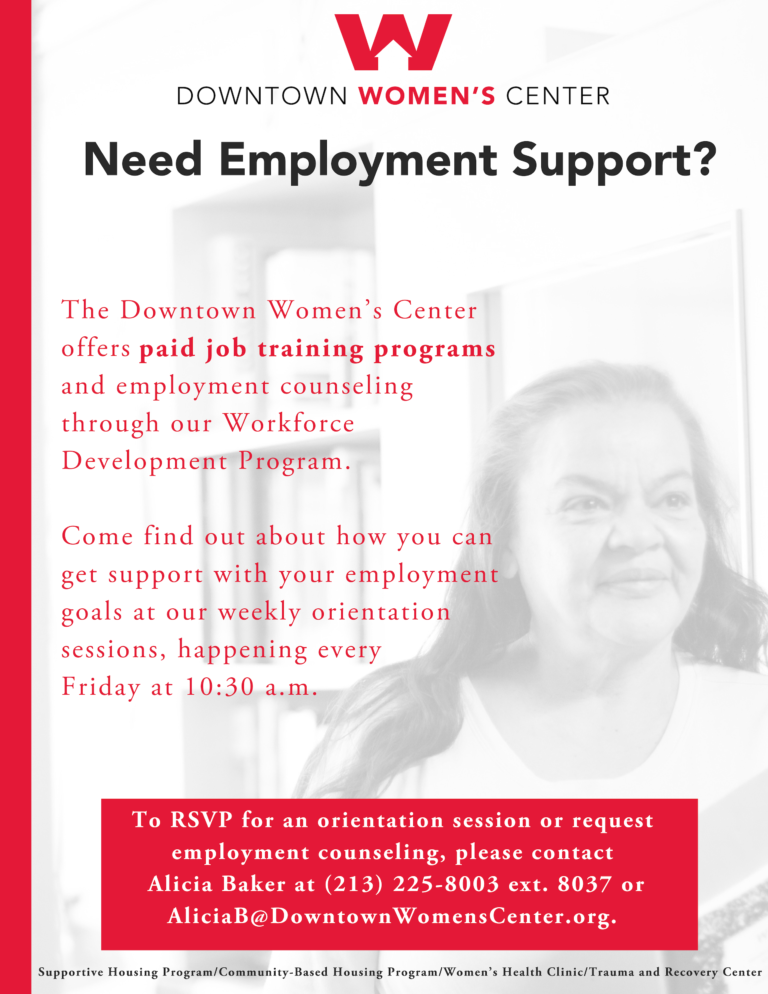 Workforce Development Flyer for Downtown Women